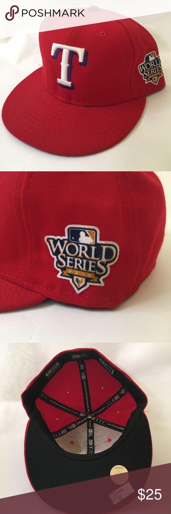 Texas Rangers World Series 2010 hat LIKE NEW! Texas Rangers 2010 World Series patch New Era fitted New Era Accessories Hats