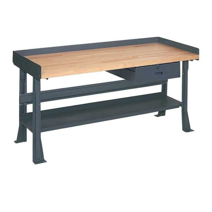D Maple Butcher Block Top Workbench With The Home Depot