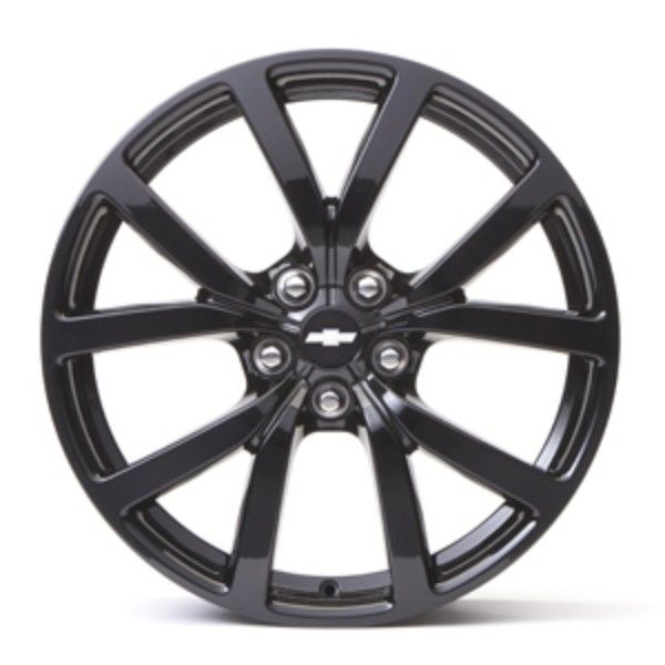 SS Wheel, 5-Split-Spoke Black Aluminum, Front, 20 x 8.5 inches:Complement the performance-enhanced style of your SS with these stylish 20-Inch 5-Split-Spoke Black Aluminum Wheels, validated to GM specifications. Color: Black. Use only GM-approved wheel and tire combinations.
