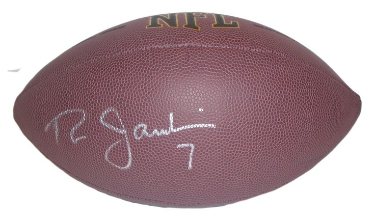 Ron Jaworski Autographed NFL Wilson Composite Football, Proof Photo