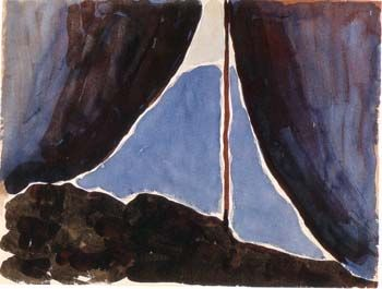 """Tent Door at Night"" by Georgia O'Keeffe, 1913"