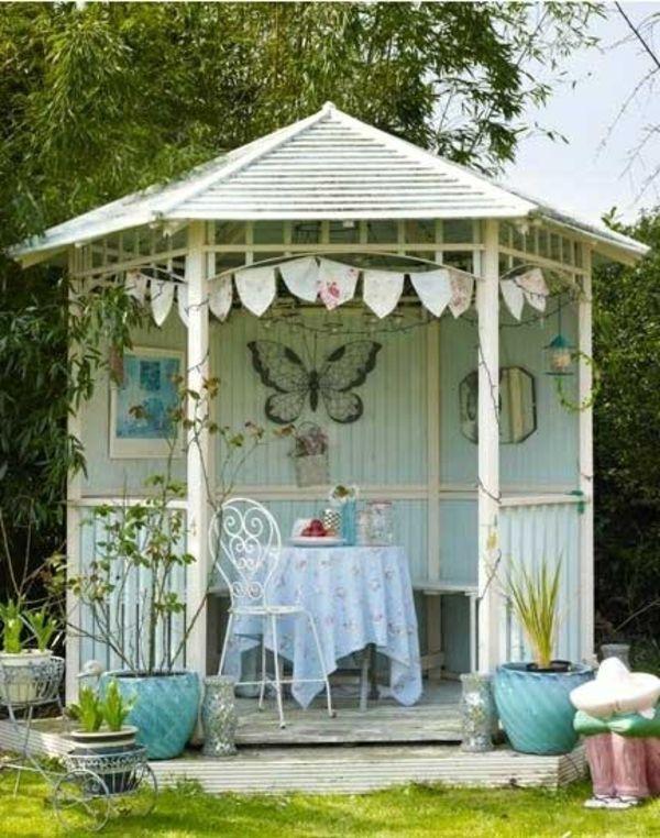 gartenpavillon holz sechseckig selber bauen. Black Bedroom Furniture Sets. Home Design Ideas