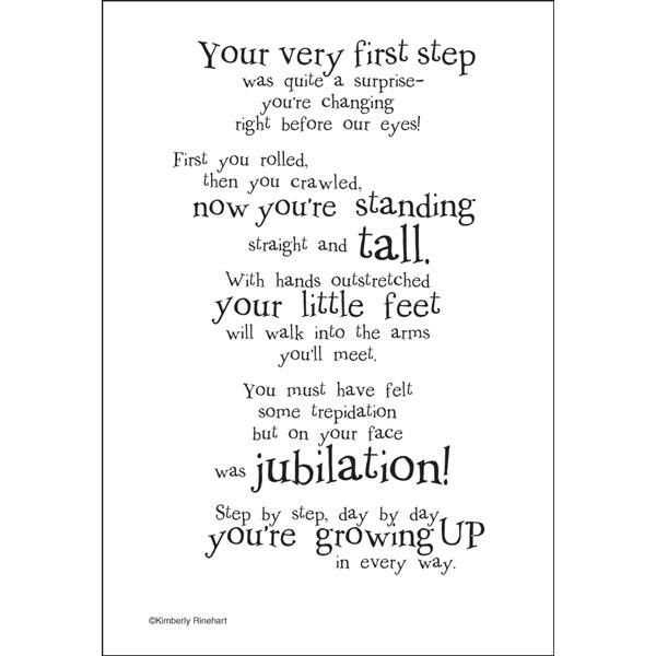 Dinglefoot's Scrapbooking - First Steps - Poem For A Page Sticker, $1.40 (http://www.dinglefoot.com/first-steps-poem-for-a-page-sticker/)