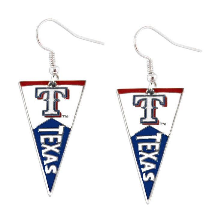 MLB Texas Rangers Pennant Dangle Earring Set