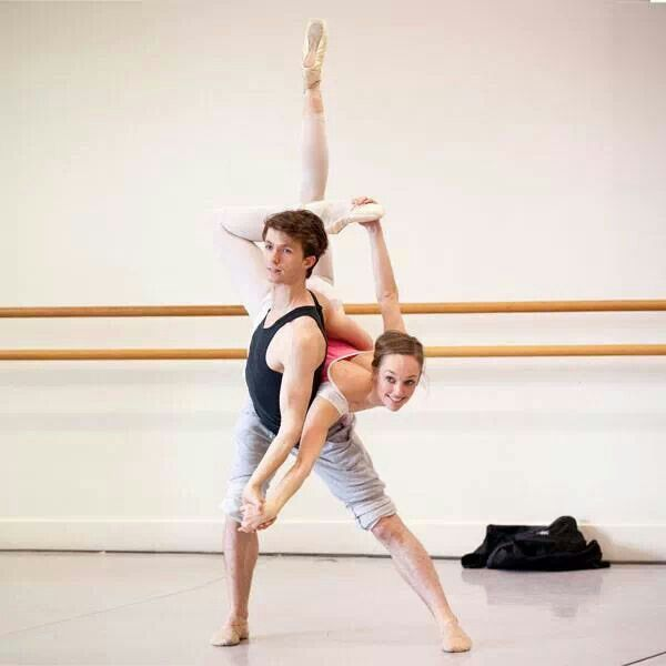 Calvin  Hannaford and Brooke  Lockett in rehearsal /photo by Lynette Wills