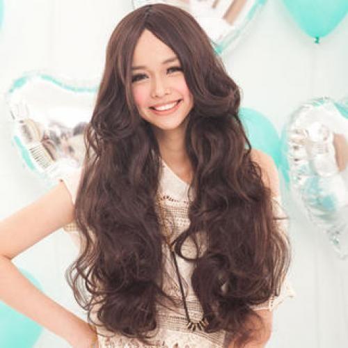 Long Full Wig - Wavy Coffee - One Size