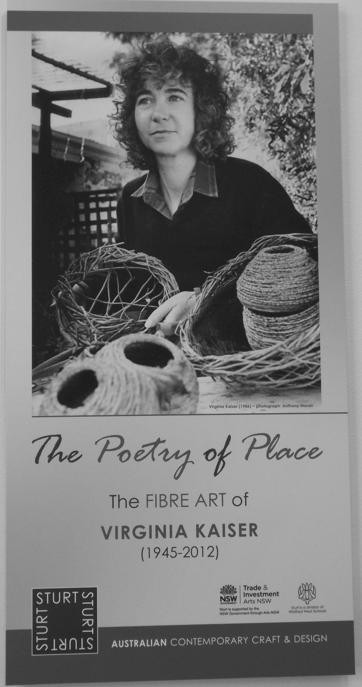 Exhibition information board, The Poetry of Place: the fibre art of Virginia Kaiser, Sturt Gallery, 27 July - 7 Sept 2014