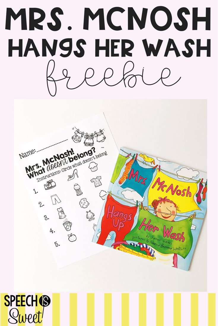 What goes together what doesn t belong fun worksheets and cut and - Mrs Mcnosh Hangs Her Wash Is The Perfect Book For Speech Language Therapy Or