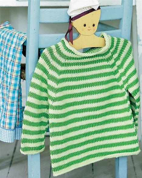 Sød stribet barnesweater