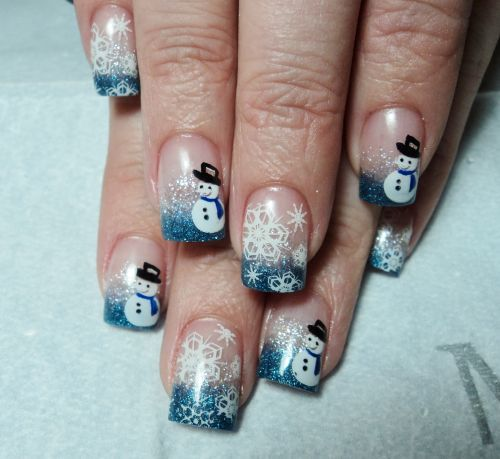 Day 348: Frosty the Snowman Nail Art - nailsmag.com