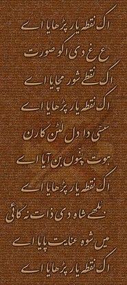 Bulleh Shah Punjabi Poetry, 'Ek Nukta Yaar Parhaya Ae'-Sufi kalam of Bulleh Shah