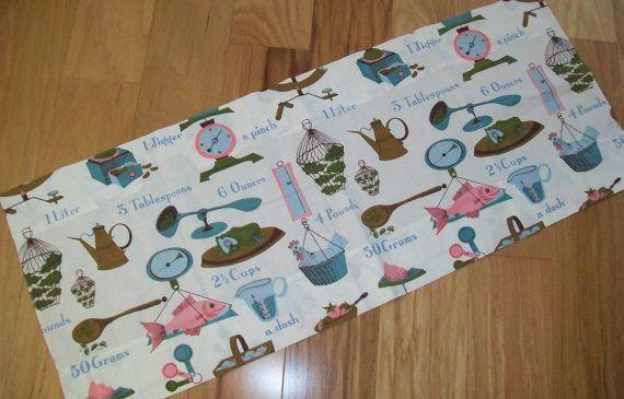 2 Midcentury Kitchen Curtains valance midcentury by BlueSkyLane