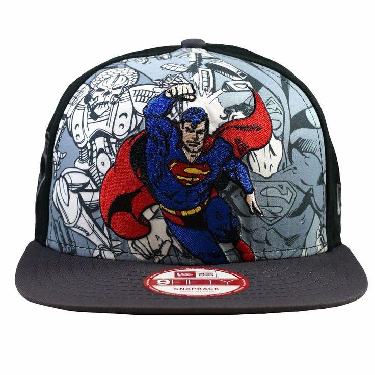 NEWERA 9FIFTY Snapback Cap HERO BREAK OUT SUPERMAN Superhero Hat  #NewEra #SnapBackCap