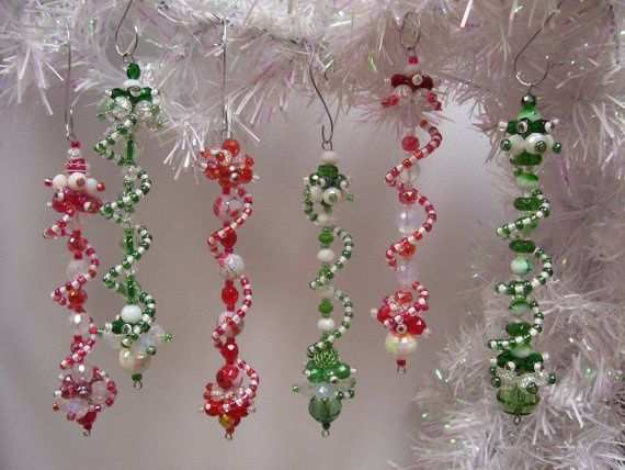 Peppermint Swirled Ornaments by Christmas Dangles... so pretty!