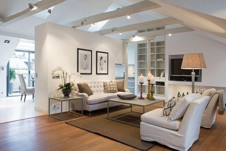 Attic Living Room Design Attic Interior Remodel To Contemporary Living Room