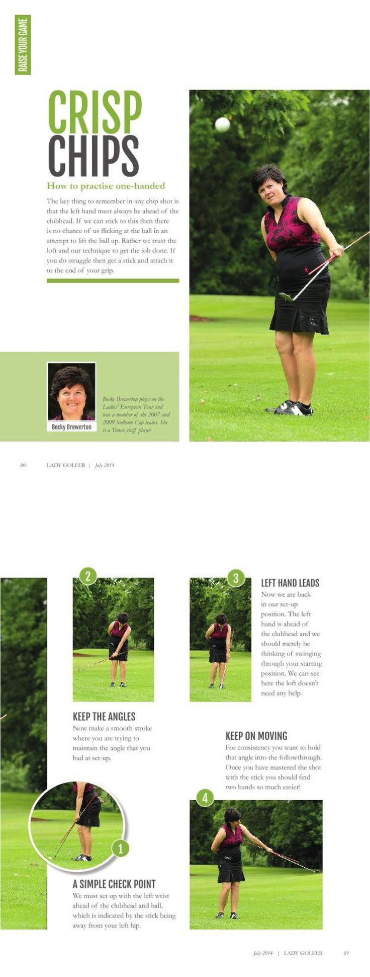 Crisp Chips: how to hit perfect chip shots, with Becky Brewerton. As seen in LadyGolfer UK Magazine. #golf