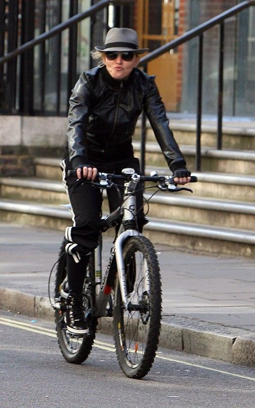 Madonna #cycling #celebrities #cyclingcelebrities
