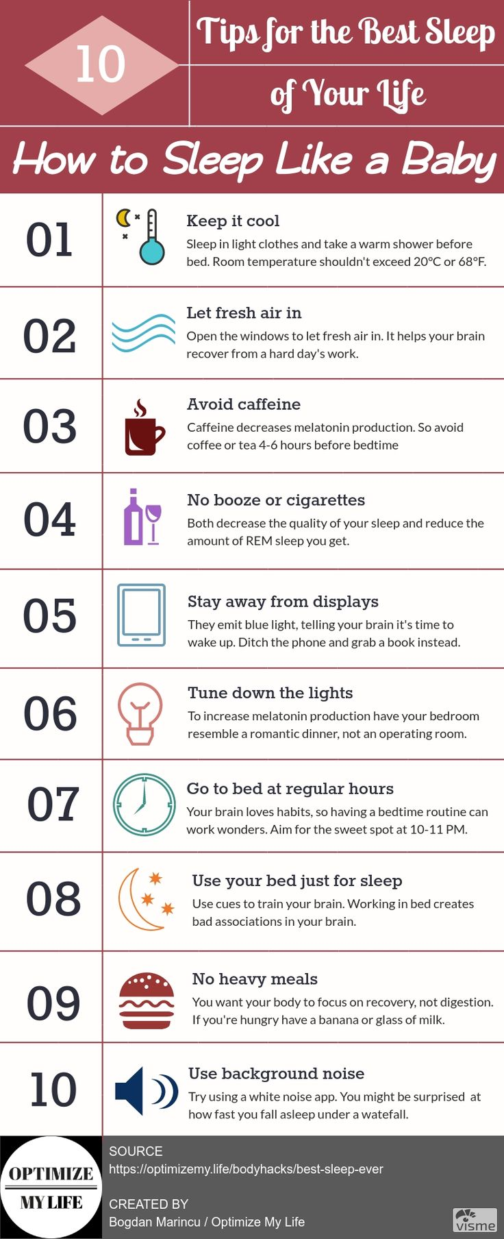 10 simple tips to get the best sleep of your life. Just like you used to after your mum gave you a warm bath and wrapped you in nice smelling bedsheets