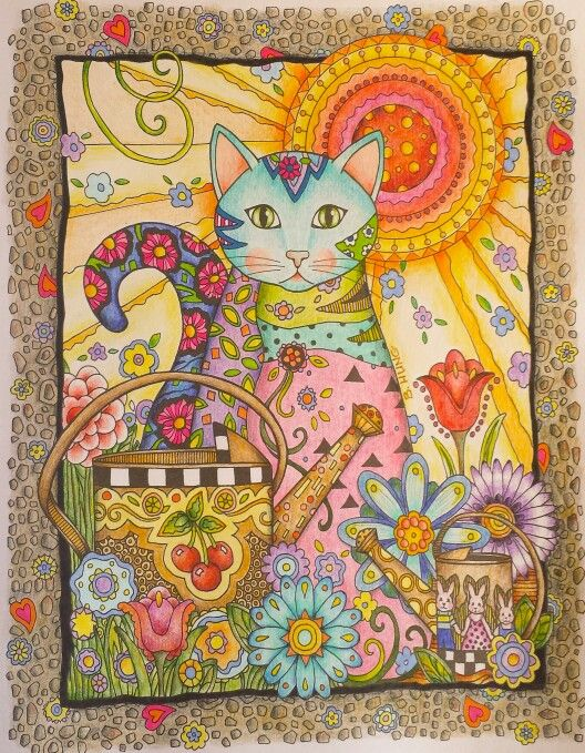 Creative Cats by Marjorie Sarnat   Colored by Betty Hung