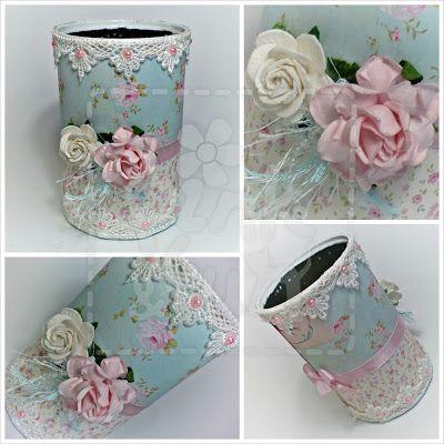 Pink & Fun: Mais uma lata decorada :)