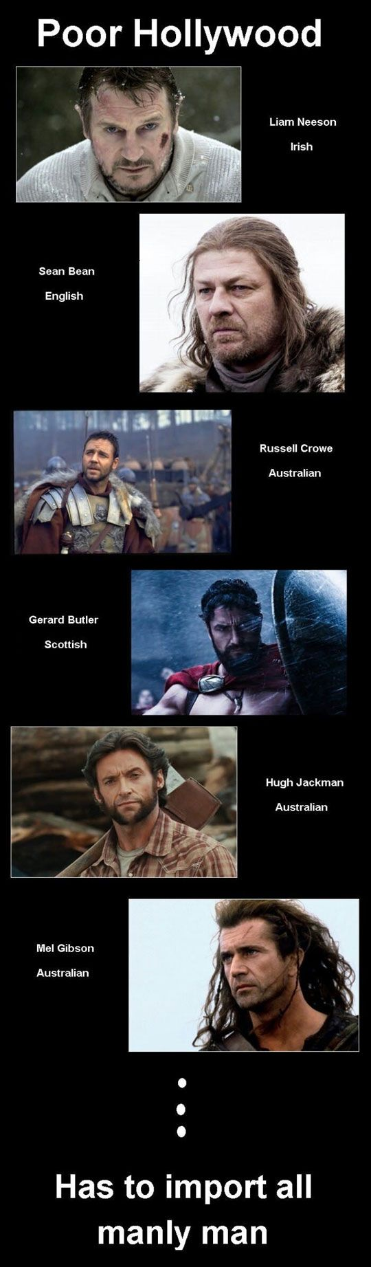 Yes, John Barrowman belongs on this list too.  Hollywood has completely sold out to the lowest standards.  Crap movies are far more common than watchable ones.