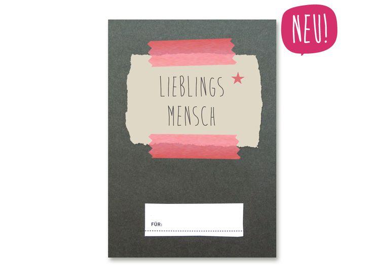 LIEBLINGSMENSCH -  Designer Grußkarte