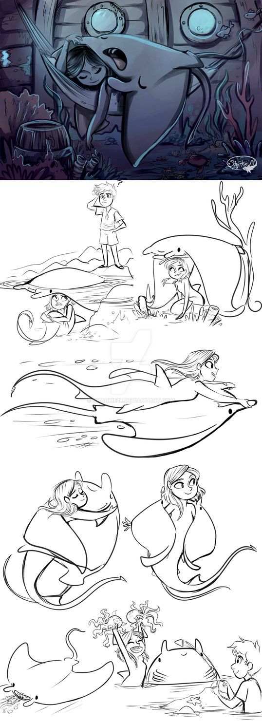 Vera and her manta ray. tumblr sharkie-19.tumblr.com/post/126…