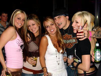 M. Shadows with his wife Valary and assorted fans. Circa 2006