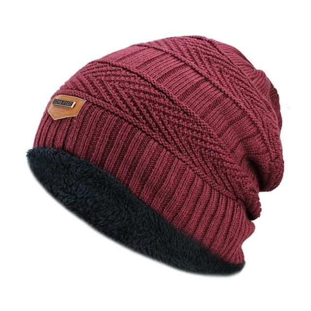 Ice Cream Hat for Men and Women Winter Warm Hats Knit Slouchy Thick Skull Cap Black