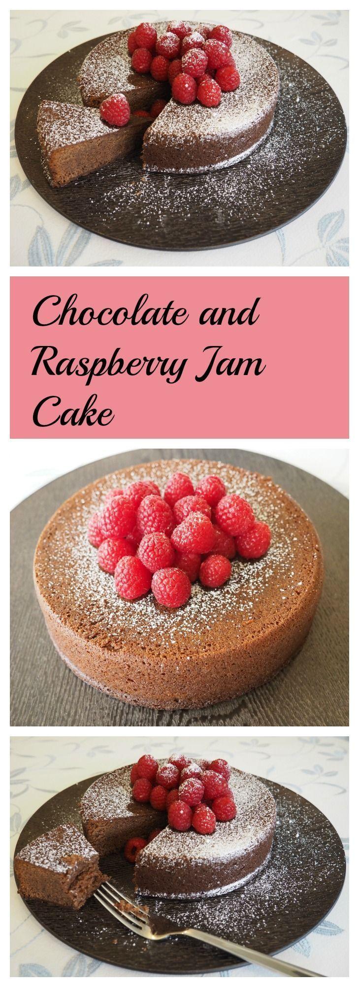 Chocolate Raspberry Cake With Jam