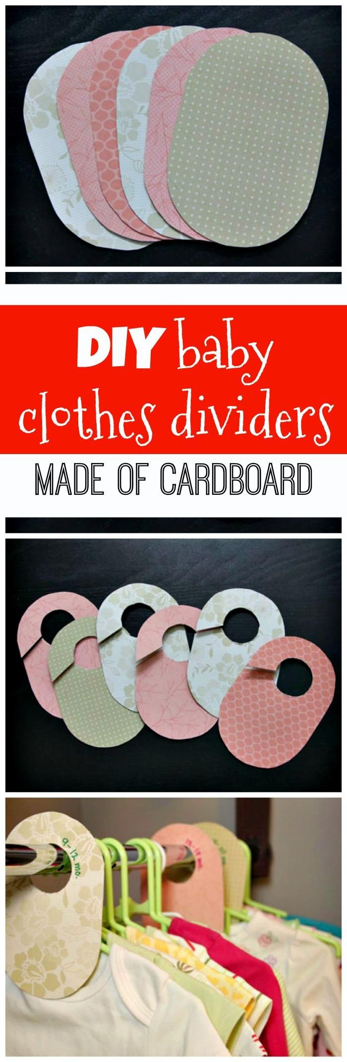 DIY Cardboard Baby Closet Dividers - 20 Easy DIY Baby Closet Dividers To Organize Baby Clothes