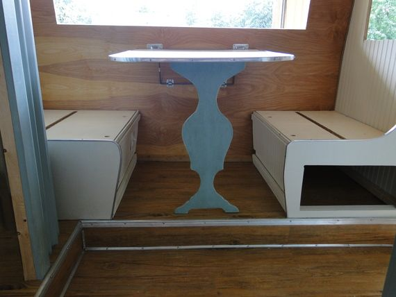 Love this table redo on Serro Scotty Camper