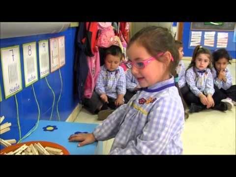 Numeración con pinzas (ABN) - 4 años A - Colegio Lar, 12/13.wmv - YouTube