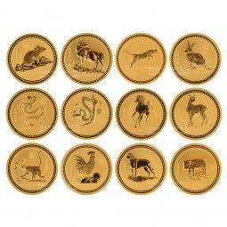 Lunar I Goldmünzen 12 x 1 Unze (oz) Komplett-Set. Lunar I Coin Set
