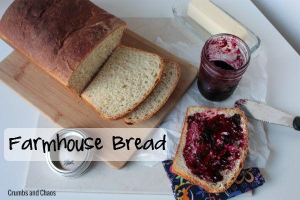 Farmhouse Bread  | Crumbs and Chaos #bread   www.crumbsandchaos.net