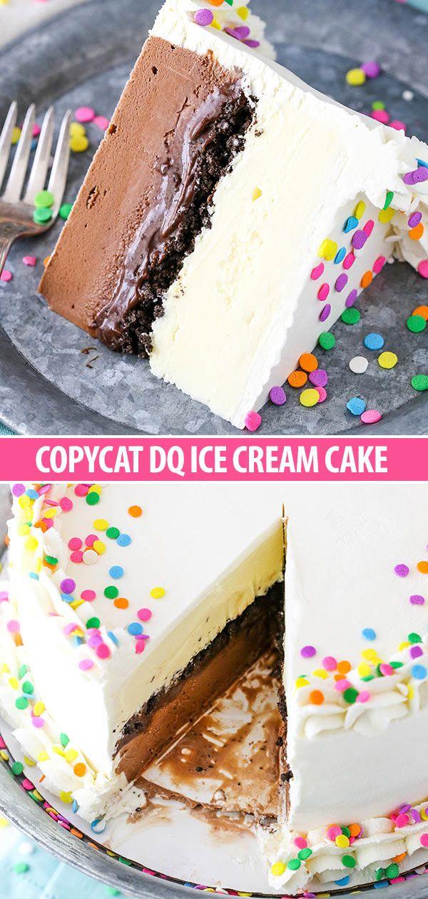 Copycat Dairy Queen Ice Cream Cake  – cake