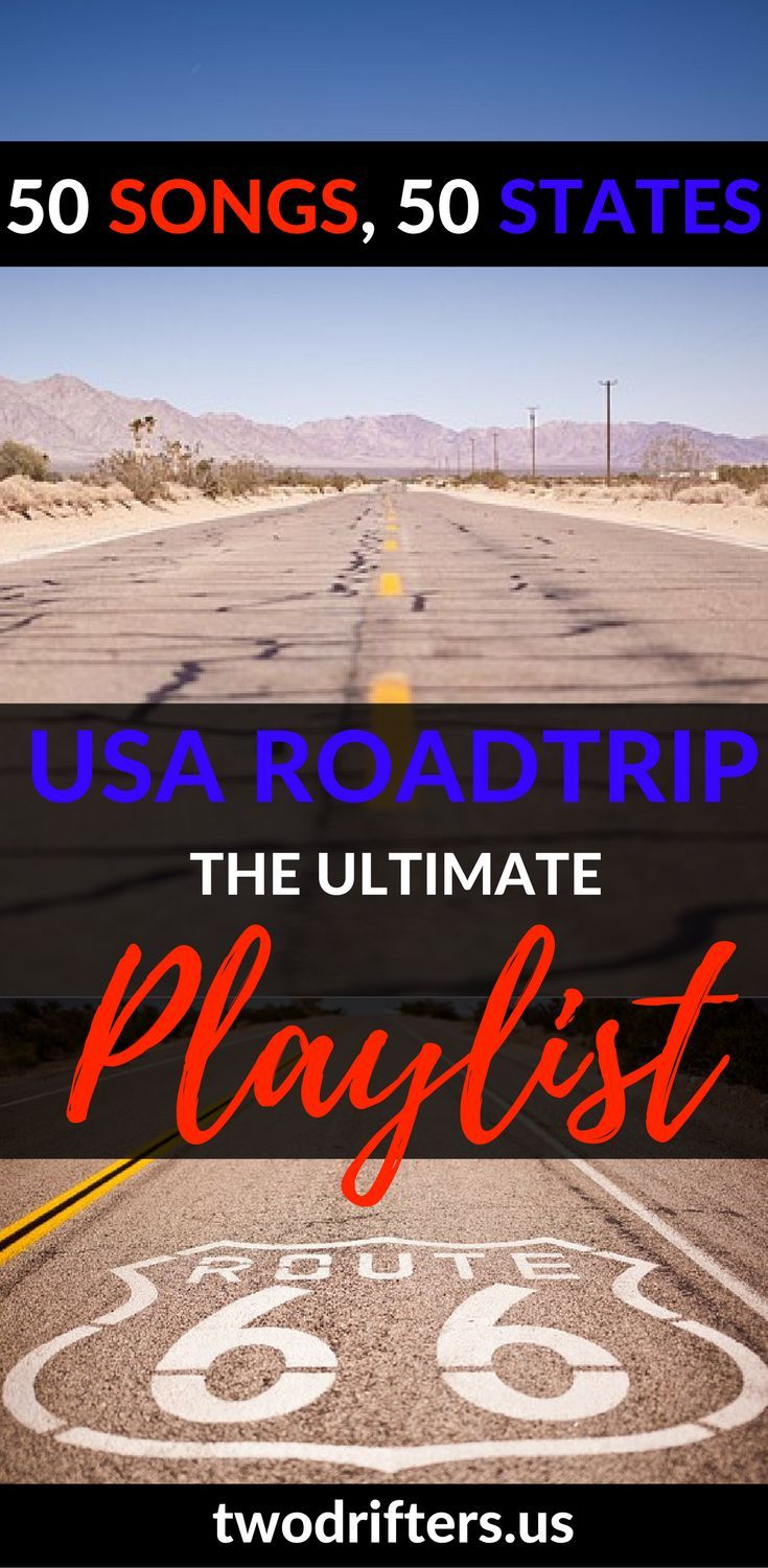 Getting ready for the classic American road trip? We've created a USA road trip playlist full of that American spirit. Fifty states, fifty songs. Drive on!