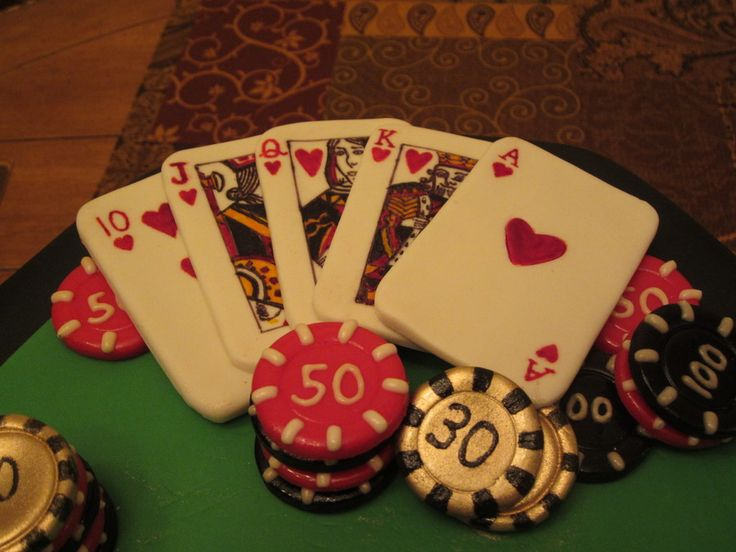 Casino Themed Cake Hand Painted Fondant Cards Chips And Cigar Inspired By Casino Cakes On Cc Casino themed cake, hand painted fondant cards...