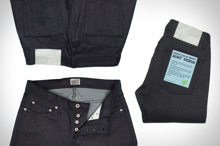 mmm mint jeans. don't look at me weird if i'm scratching. it's for your benefit too. Naked & Famous Scratch-N-Sniff Mint Jeans