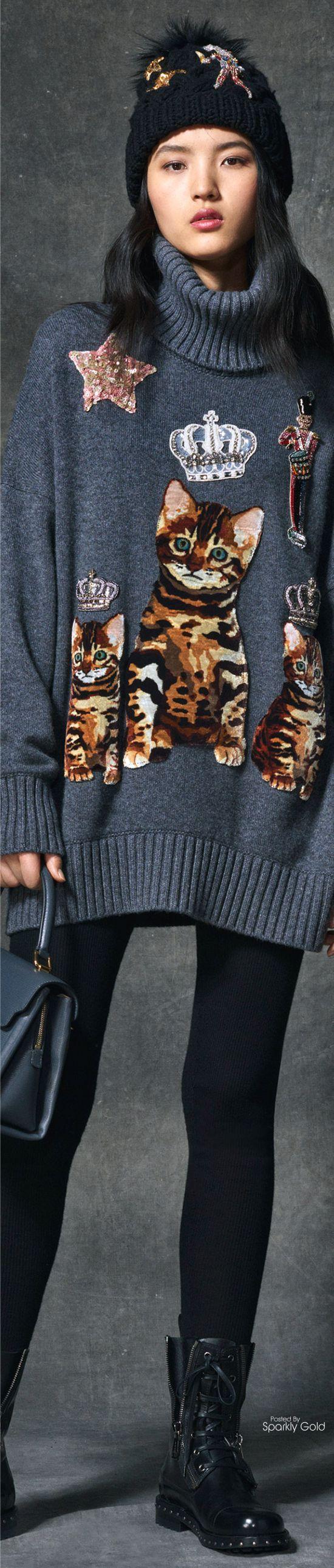 D&G Fall 2016 Cat Sweater Wonderland