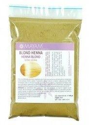 Colorant henna blond. Un melanj de patru pudre vegetale ce reînvie părul blond, conferă reflexii luminoase. Utilizat singur sau în combinaţie pentru diverse nuanţe. Acoperă firele albe.