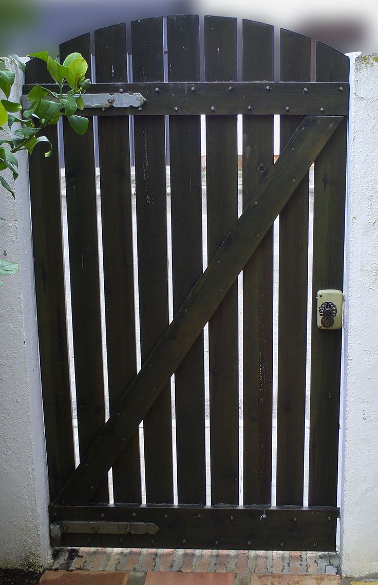M s de 1000 ideas sobre vallas de madera en pinterest for Puerta jardin madera