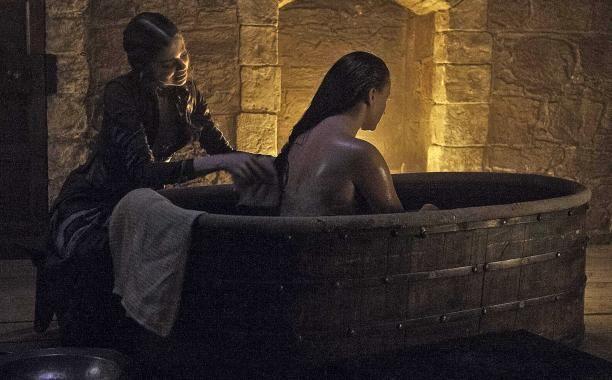 "5.06 ""Unbowed, Unbent, Unbroken"" - At Winterfell, Myranda helps Sansa get ready for her wedding to Ramsay Bolton."