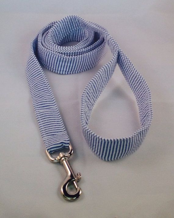 Doggy fashion!  6 Foot Seersucker Preppy Dog Leash Custom Dog by thesouthernpup