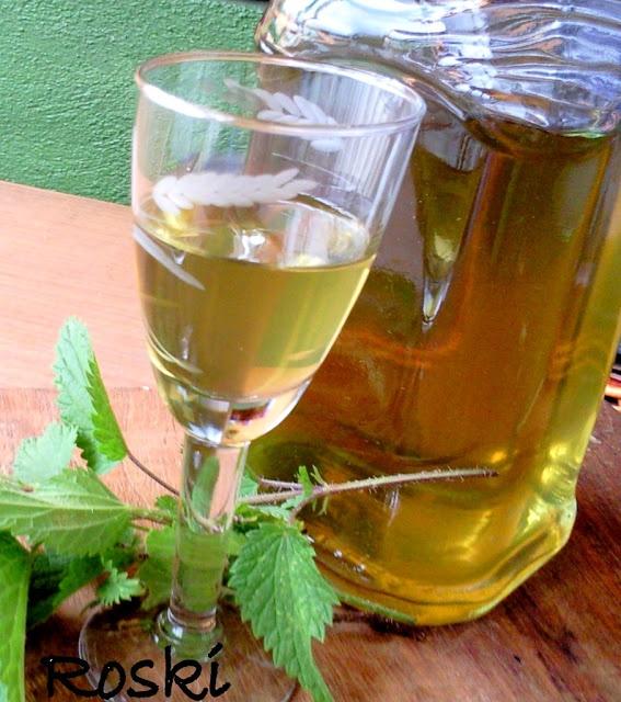 Licor de Ortigas ou Licor de Estrugas, por  Roski AH. La receta en su blog roski-cocina y algo mas-yus