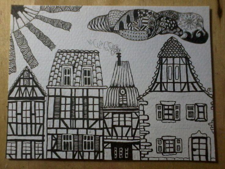 zentangle huizen