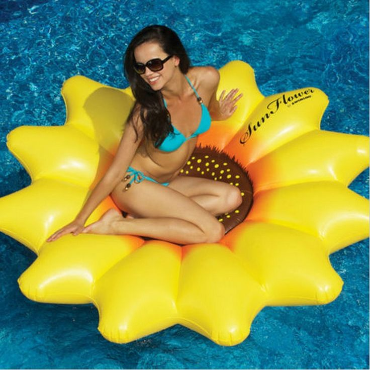 """HOT!! Giant Inflatable 72"""" Sunflower Island Swimming Pool Raft Float 
