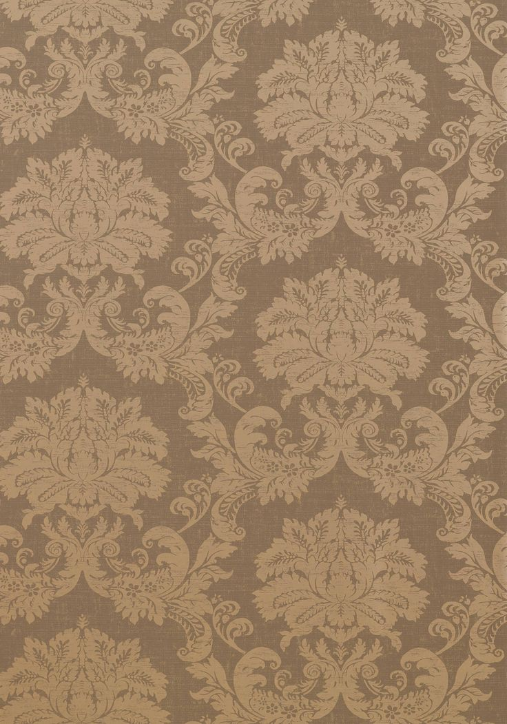 Symphony Damask Metallic On Taupe T7636 Collection
