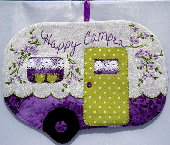 Happy Camper 57 Mug Rug
