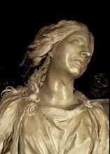 Gian Lorenzo Bernini. Santa Bibiana, detalle.